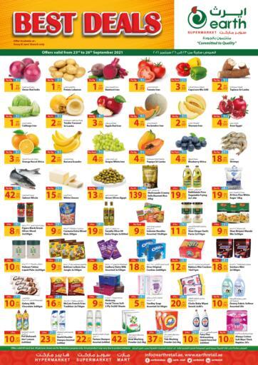 UAE - Abu Dhabi Earth Supermarket offers in D4D Online. Best Deals. Best Deals At Earth Supermarket Available On Fresh Fruits And Vegetables, etc .Offer Valid Till 26th September  2021.  Enjoy Shopping!!!  . Till 26th September