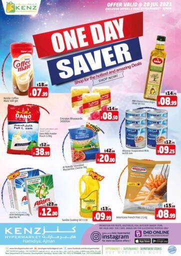 UAE - Sharjah / Ajman Kenz Hypermarket offers in D4D Online. One Day Saver. . Only On 28th July