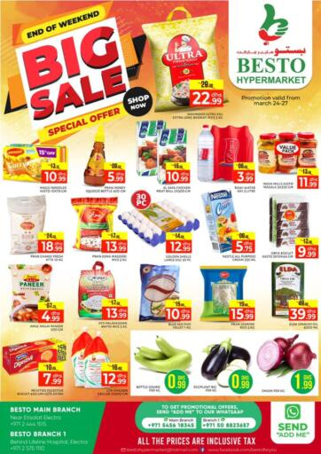 UAE - Abu Dhabi Besto Hypermarket offers in D4D Online. Big Sale. . Till 27th March