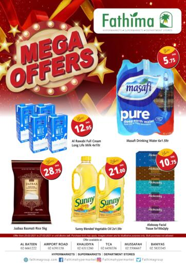 UAE - Abu Dhabi Fathima Hypermarkets & Supermarkets offers in D4D Online. Mega Offers. . Till 27th February