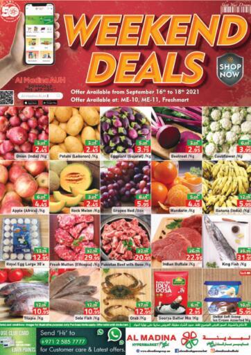 UAE - Abu Dhabi Al Madina Hypermarket offers in D4D Online. Weekend Deals @ Fresh Mart, ME10, ME 11. Enjoy The Weekend Deals Available From Al Madina Hypermarket.Offer Valid Till 18th September 2021.  Enjoy Shopping!!!. Till 18th September