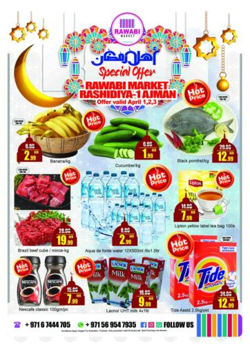 UAE - Sharjah / Ajman Rawabi Market Ajman offers in D4D Online. Ahlan Ramadan. . Till 3rd April
