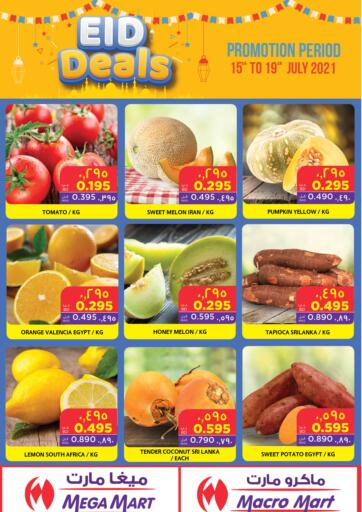 Bahrain MegaMart & Macro Mart  offers in D4D Online. Eid Deals. Eid Deals At MegaMart & MacroMart! Offer Includes Groceries, Fruits, Vegetables & much more at reduced prices. Offer Valid Till 19th July. Happy Shopping!!. Till 19th July