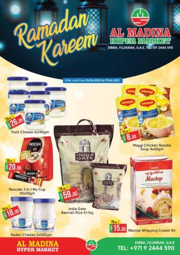 UAE - Fujairah Al Madina Supermarket LLC offers in D4D Online. Ramadan Offers. . Till 17th April