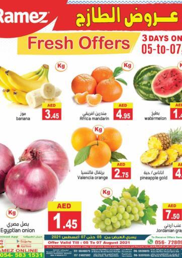 UAE - Sharjah / Ajman Aswaq Ramez offers in D4D Online. Fresh Offers. . Till 07th August