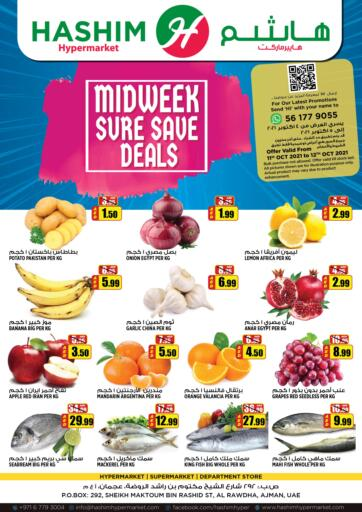 UAE - Sharjah / Ajman Hashim Hypermarket offers in D4D Online. Midweek Sure Save Deals. Midweek Sure Save Deals! For You At Hashim Hypermarket. Get Your Products At Exiting Offer. Valid Till 12th October 2021.  Enjoy Shopping!!!. Till 12th October
