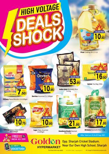 UAE - Sharjah / Ajman Golden Hypermarket offers in D4D Online. Deals Shock. Check Out The Best Offers Available At Golden Hypermarket. Offer Valid Till 25th September 2021.  Enjoy Shopping!!!. Till 25th September