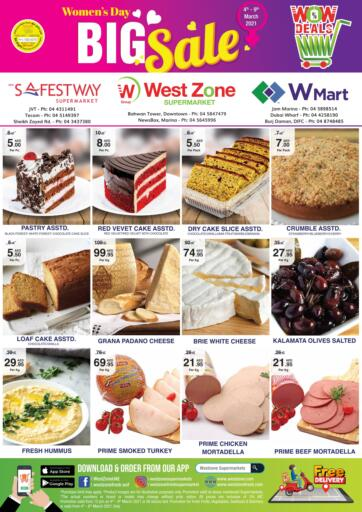 UAE - Dubai West Zone Supermarket offers in D4D Online. Womens Day Big Sale. . Till 9th March