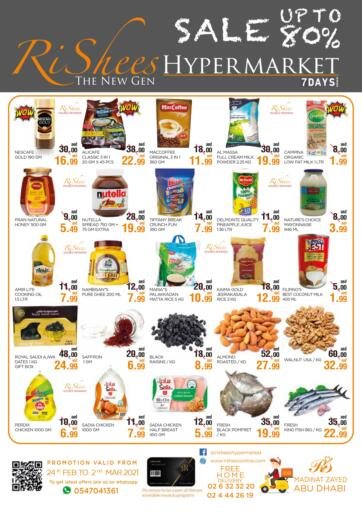 UAE - Abu Dhabi Rishees Hypermarket offers in D4D Online. Sale Up To 80%. . Till 02nd March