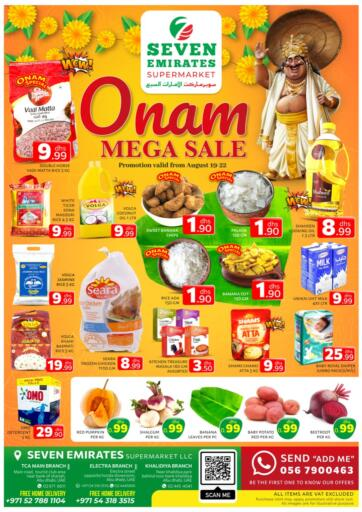 UAE - Abu Dhabi Seven Emirates Supermarket offers in D4D Online. Onam Mega Sale @ TCA, Khalidiya, Electra. Onam Mega Sale Now From Seven Emirates Supermarket.Offer Valid Till 22nd August 2021.  Enjoy Shopping!!!. Till 22nd August