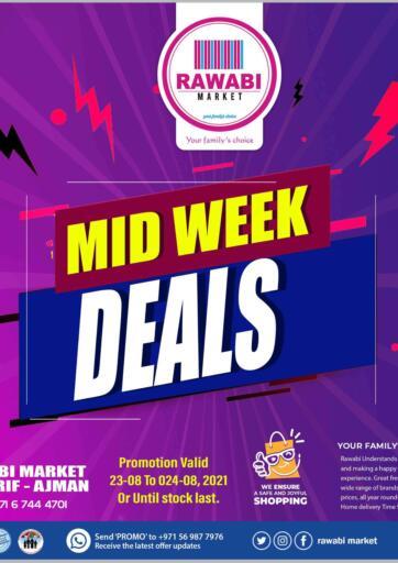 UAE - Sharjah / Ajman Rawabi Market Ajman offers in D4D Online. Midweek Deals- Mushrif. Get The Big Days Offer Now From Rawabi Market. Offer Valid Till 24th August 2021.  Enjoy Shopping!!!. Till 24th August