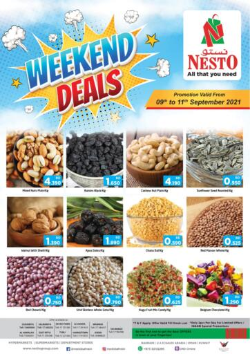 Bahrain NESTO  offers in D4D Online. Weekend Deals. Weekend Deals At Nesto !  Offers on Groceries and Much more are valid Till 11th September Get it Now Enjoy Shopping!!. Till 11th September