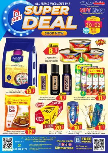 UAE - Sharjah / Ajman GIFT MART- Sharjah offers in D4D Online. Super Deal. . Till 2nd October