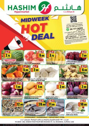 UAE - Sharjah / Ajman Hashim Hypermarket offers in D4D Online. Midweek Hot Deal. Midweek Hot Deal Are Waiting For You At Hashim Hypermarket.Get Your Products At Exiting Offer.Valid Till 17th August 2021.  Enjoy Shopping!!!. Till 17th August