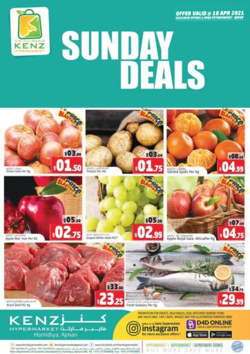 UAE - Sharjah / Ajman Kenz Hypermarket offers in D4D Online. Sunday Deals. Sunday Deals Now Available At Kenz Hypermarket.Rush Now And Get Everything At Best Price. Offer Valid Only On 18th April 2021.  Enjoy Shopping!!!. Only On 18th April