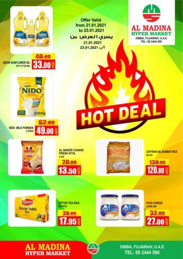 UAE - Fujairah Al Madina Supermarket LLC offers in D4D Online. Hot Deal. . Till 23rd January