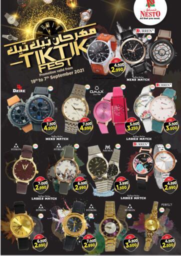 Bahrain NESTO  offers in D4D Online. TikTik Fest. TikTik Fest at Nesto!  Offers on Watches,are valid Till  7th September Get it Now!! Enjoy Shopping!. Till 7th September