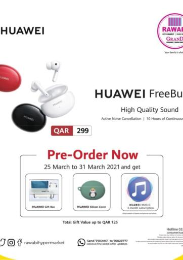 Qatar - Doha Rawabi Hypermarkets offers in D4D Online. Pre-Order Now. . Till 31st March