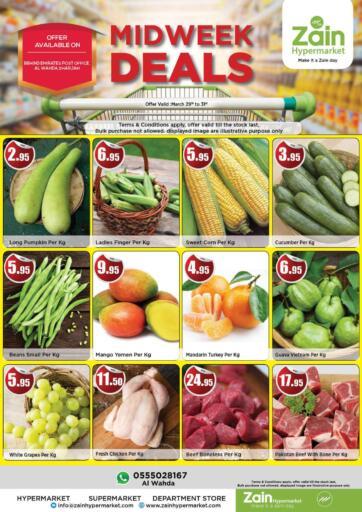 UAE - Sharjah / Ajman Zain Hypermarket offers in D4D Online. Midweek Deals. Midweek Deals Now Available At Zain Hypermarket.Get Exciting Offers Before 31st March 2021.  Enjoy Shopping!!!. Till 31st March