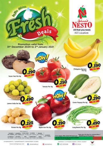 Bahrain NESTO  offers in D4D Online. Fresh Deals. . Till 02nd January