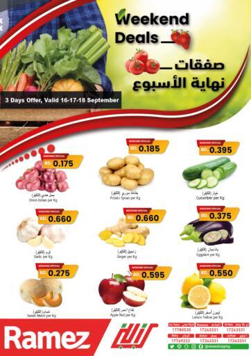 Bahrain Ramez offers in D4D Online. Weekend Deals. Weekend Deals at Ramez !  Offers on Fish are valid Till  18th September Get it Now!! Enjoy Shopping!. Till 18th September