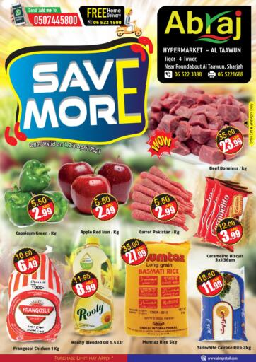 UAE - Sharjah / Ajman Abraj Hypermarket offers in D4D Online. Save More. . Till 3rd April
