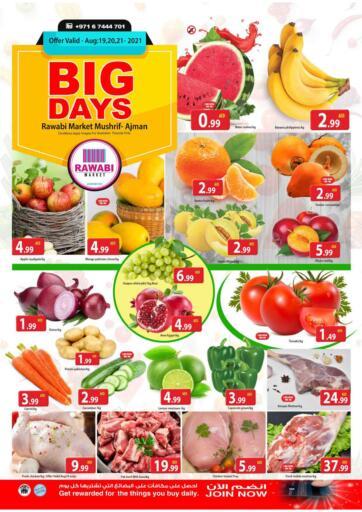 UAE - Sharjah / Ajman Rawabi Market Ajman offers in D4D Online. Big Days @ Mushrif. Get The Big Days Offer Now From Rawabi Market. Offer Valid Till 21st August 2021.  Enjoy Shopping!!!. Till 21st August