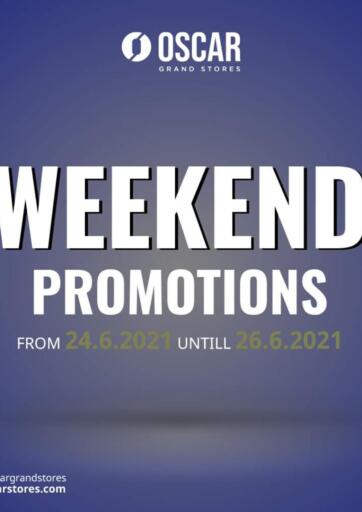 Egypt - Cairo Oscar Grand Stores  offers in D4D Online. Weekend Promotions. . Till 26th June