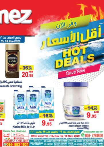 UAE - Ras al Khaimah Aswaq Ramez offers in D4D Online. Hot Deals. Hot Deals At Aswaq Ramez, Offers Going On For Fresh Food, Groceries & Selected Items etc. Grab Your Favorites At Low Price.  Offer Valid Till  18th November 2020. Happy Shopping!!!. Till 18th November