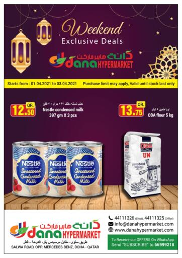 Qatar - Doha  Dana Hypermarket offers in D4D Online. Weekend Exclusive Deals. Weekend Exclusive Deals Offers Is Available At Dana Hypermarket. Get your Favourite Products at Best Prices. Offers Are Valid Till  3rd April. Enjoy Shopping!!. Till 3rd April