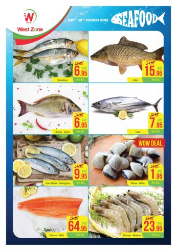 UAE - Abu Dhabi West Zone Supermarket offers in D4D Online. Seafood Promotion. . Till 10th March