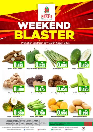Bahrain NESTO  offers in D4D Online. Weekend Blaster. . Till 28th August