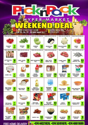 Qatar - Al Khor Pick n Pack offers in D4D Online. Weekend Deal. . Till 1st March